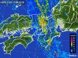2016年08月29日の近畿地方の雨雲レーダー