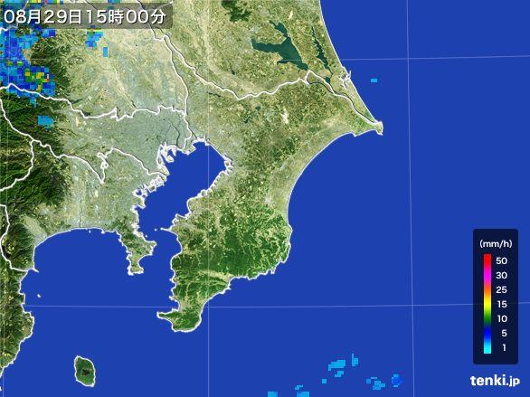 千葉県の雨雲レーダー(2016年08月29日)