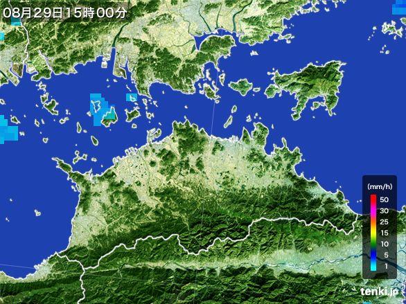 香川県の雨雲レーダー(2016年08月29日)