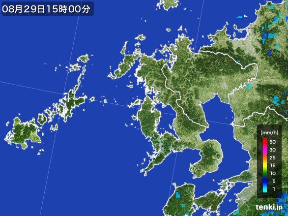 長崎県の雨雲レーダー(2016年08月29日)