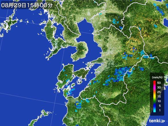 熊本県の雨雲レーダー(2016年08月29日)