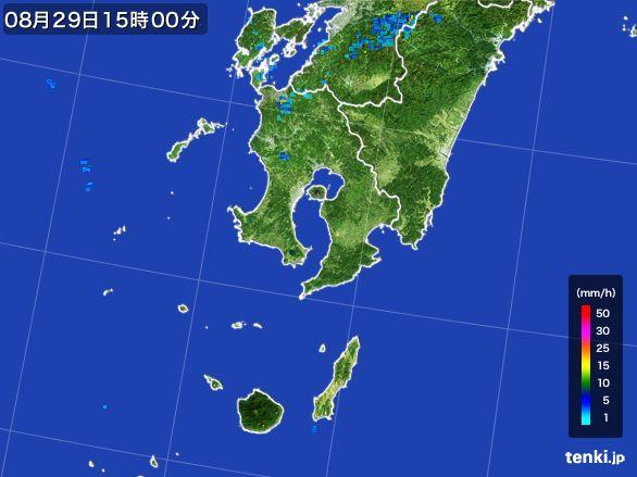鹿児島県の雨雲の動き(2016年08月29日)