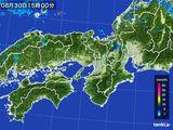 2016年08月30日の近畿地方の雨雲レーダー