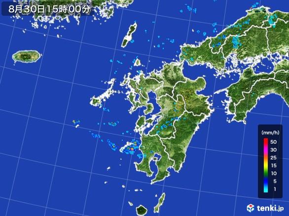 九州地方の雨雲レーダー(2016年08月30日)
