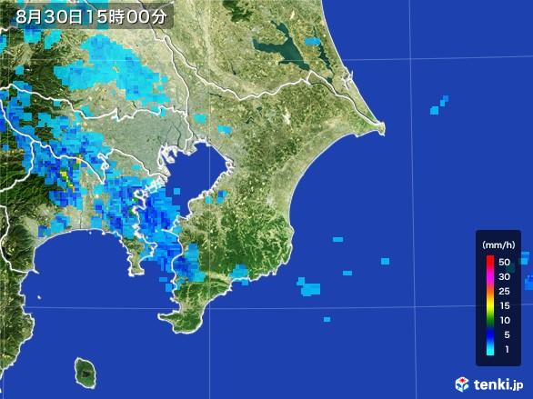 千葉県の雨雲レーダー(2016年08月30日)