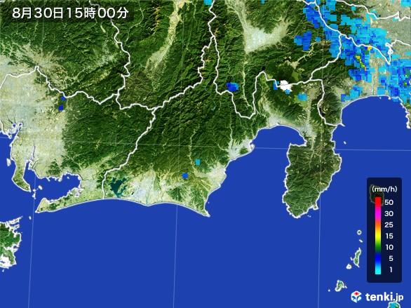 静岡県の雨雲レーダー(2016年08月30日)