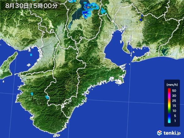 三重県の雨雲レーダー(2016年08月30日)