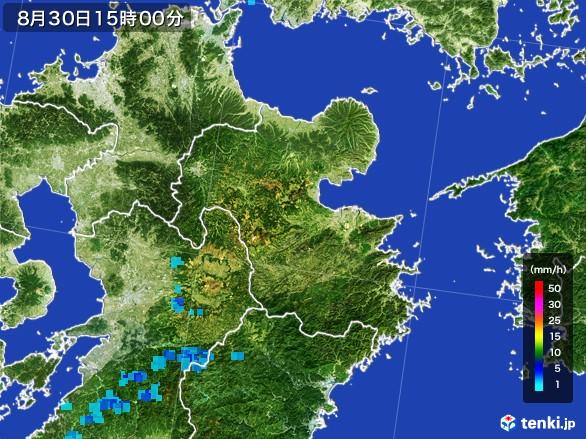 大分県の雨雲レーダー(2016年08月30日)