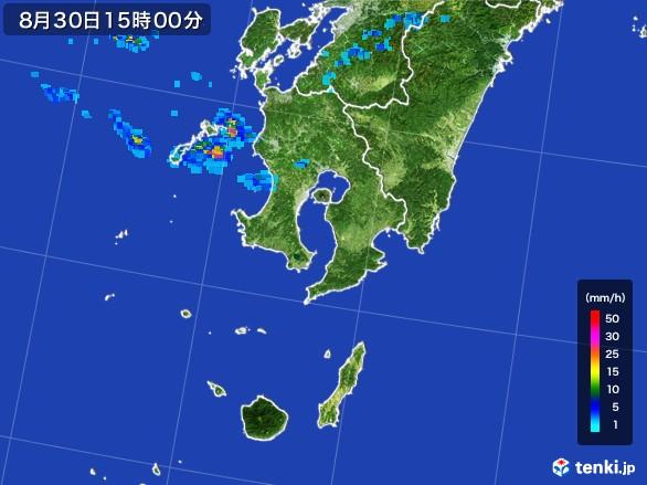 鹿児島県の雨雲レーダー(2016年08月30日)