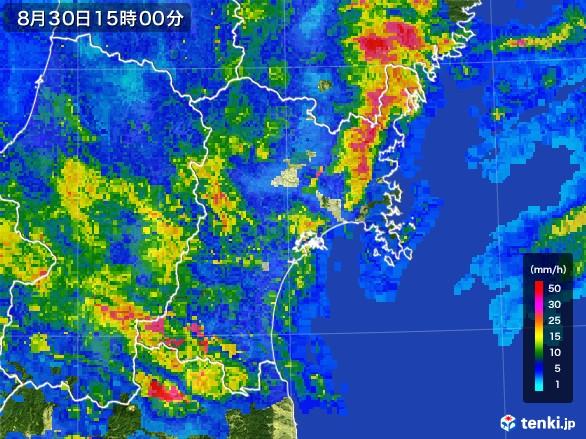 宮城県の雨雲レーダー(2016年08月30日)
