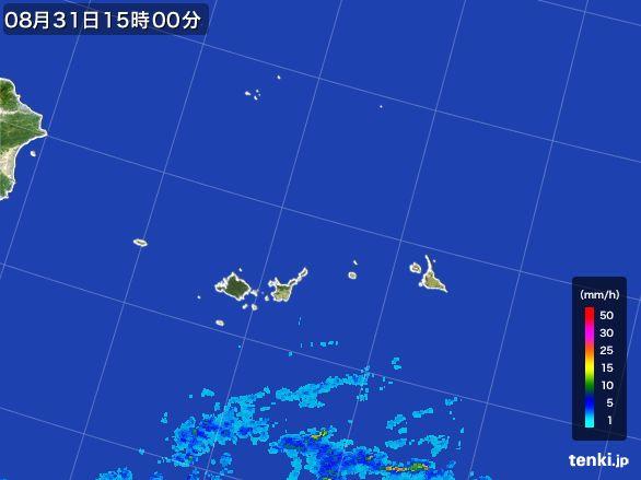 宮古島・石垣・与那国(沖縄県)の雨雲レーダー(2016年08月31日)