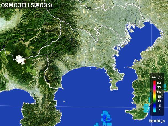 神奈川県の雨雲レーダー(2016年09月03日)