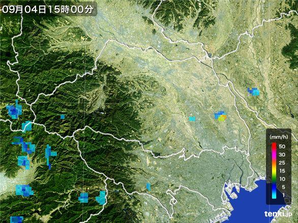 埼玉県の雨雲レーダー(2016年09月04日)