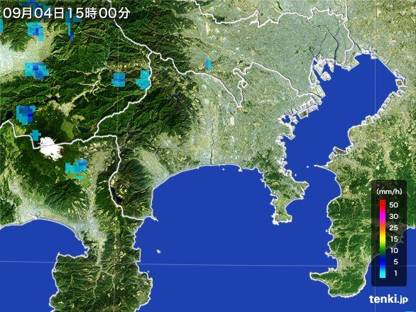 神奈川県の雨雲レーダー(2016年09月04日)