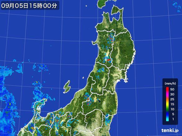 東北地方の雨雲レーダー(2016年09月05日)