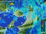 2016年09月05日の大阪府の雨雲レーダー