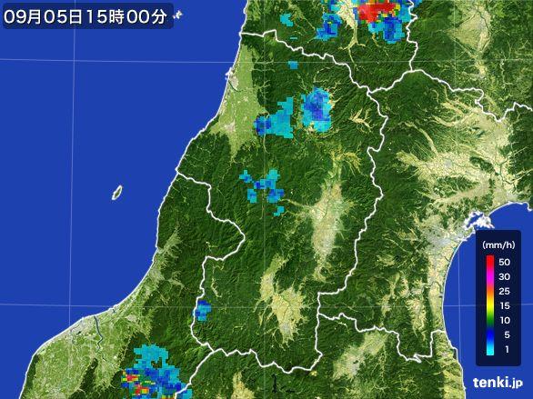 山形県の雨雲レーダー(2016年09月05日)