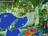 2016年09月06日の大阪府の雨雲レーダー