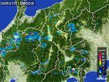 2016年09月07日の長野県の雨雲レーダー