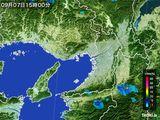2016年09月07日の大阪府の雨雲レーダー