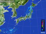 2016年09月08日の雨雲レーダー