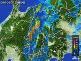 2016年09月08日の長野県の雨雲レーダー