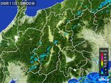 2016年09月11日の長野県の雨雲レーダー