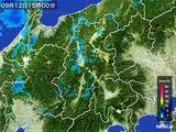 2016年09月12日の長野県の雨雲レーダー