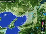 2016年09月13日の大阪府の雨雲レーダー