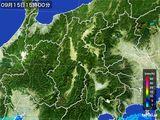 2016年09月15日の長野県の雨雲レーダー