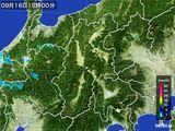 2016年09月16日の長野県の雨雲レーダー