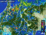 2016年09月18日の長野県の雨雲レーダー