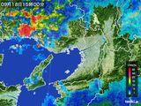 2016年09月18日の大阪府の雨雲レーダー