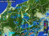 2016年09月19日の長野県の雨雲レーダー
