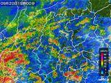 2016年09月20日の長野県の雨雲レーダー
