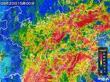 雨雲レーダー(2016年09月20日)