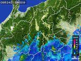 2016年09月24日の長野県の雨雲レーダー