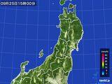 雨雲レーダー(2016年09月25日)