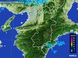 2016年09月25日の奈良県の雨雲レーダー