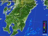 2016年09月25日の宮崎県の雨雲の動き