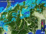 2016年09月26日の長野県の雨雲レーダー