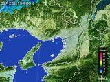 2016年09月26日の大阪府の雨雲レーダー