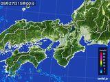 2016年09月27日の近畿地方の雨雲レーダー