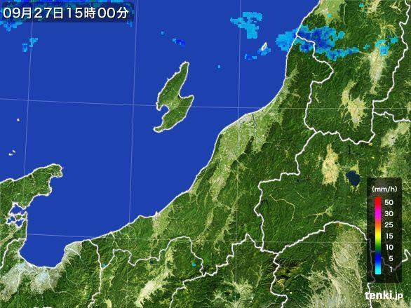 新潟県の雨雲レーダー(2016年09月27日)