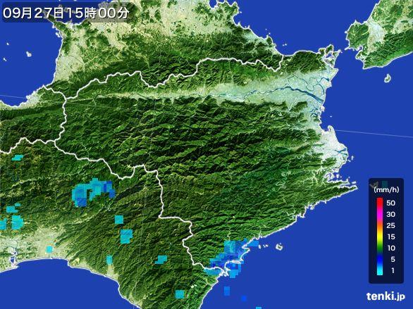 徳島県の雨雲レーダー(2016年09月27日)