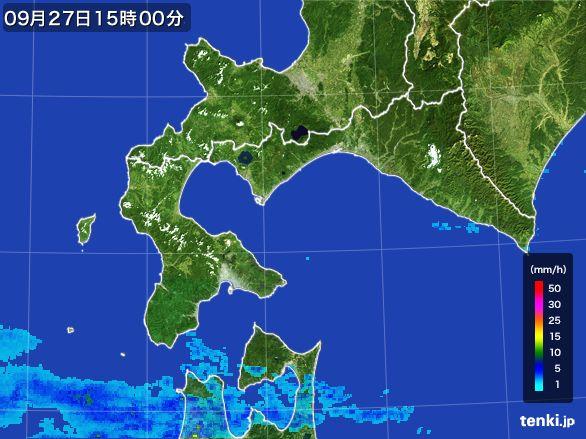道南の雨雲レーダー(2016年09月27日)