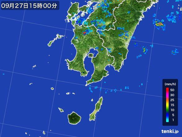 鹿児島県の雨雲レーダー(2016年09月27日)