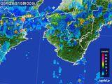 2016年09月28日の和歌山県の雨雲の動き