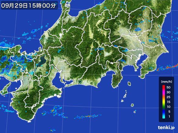 東海地方の雨雲レーダー(2016年09月29日)