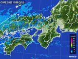 2016年09月29日の近畿地方の雨雲レーダー